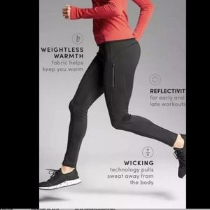 NWT Athleta PrimaLoft RIDGE Tights BLACK MP (SP)